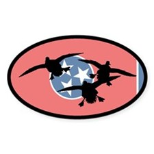 Tennessee Ducks Oval Sticker (10 pk)
