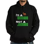 """Wiseass, Not Jackass"" Hoodie (dark)"
