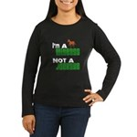 """Wiseass, Not Jackass"" Women's Long Sleeve Dark T-"