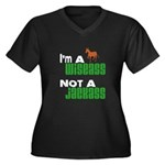 """Wiseass, Not Jackass"" Women's Plus Size V-Neck Da"