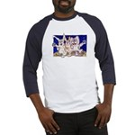 Full Moon Rabbits Baseball Jersey
