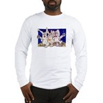 Full Moon Rabbits Long Sleeve T-Shirt