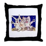 Full Moon Rabbits Throw Pillow