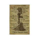 Soldier's Creed Rectangle Magnet