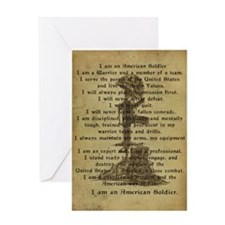 Soldier's Creed Greeting Card