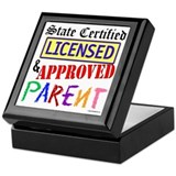 Certified, Licensed, Approved Keepsake Box