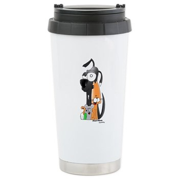 Squeeks and the Gang Stainless Steel Travel Mug