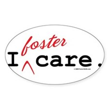 I Foster Care Oval Decal