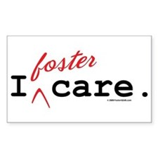 I Foster Care Rectangle Decal