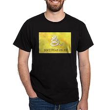 Gadsden Flag Black T-Shirt