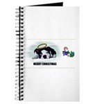MERRY CHRISTMAS BOSTON TERRIER ANGEL Journal