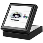 MERRY CHRISTMAS BOSTON TERRIER ANGEL Keepsake Box