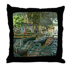 Bathers Throw Pillow