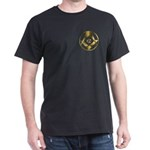 Masonic Gold Circle Black T-Shirt