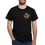 Masonic Gold Circle Black T-Shirt