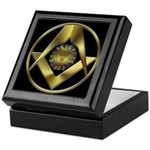 Masonic Sun in a Circle Keepsake Box