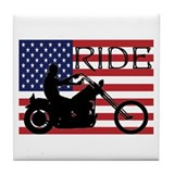 Cute Harley Tile Coaster