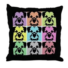 Border Terrier a la Warhol 4 Throw Pillow