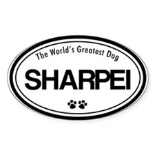 Sharpei Breeds Oval Decal
