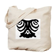 "Ink Blot ""Lonely Eyes"" Tote Bag"