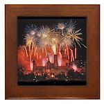 Fireworks Framed Tile