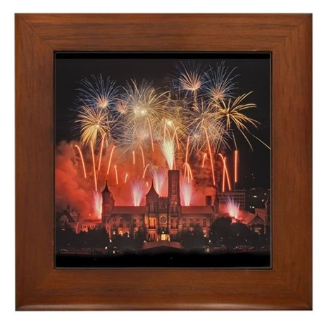 Fireworks Framed Tile