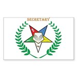 OES Secretary Rectangle Sticker