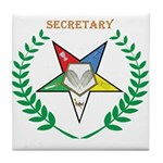 OES Secretary Tile Coaster