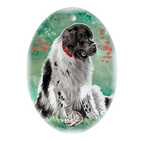 Newfoundland Landseer Oval Ornament