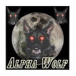 Alpah Wolf Tile Coaster