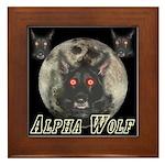 Alpah Wolf Framed Tile