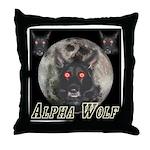 Alpah Wolf Throw Pillow