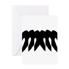 "Ink Blot ""Birds Flying"" Greeting Card"