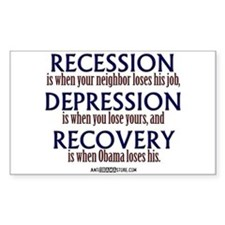 Recession, Depression & Recovery Decal
