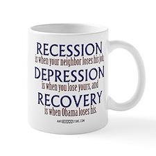Recession, Depression & Recovery Mug
