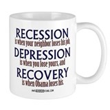 Recession, Depression &amp; Recovery Small Mug