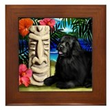 NEWFOUNDLAND DOG HAWAII TIKI Framed Tile