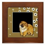 CHOW CHOW DOG FLOWERS Framed Tile