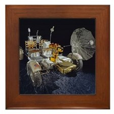 Lunar Roving Vehicle Framed Tile
