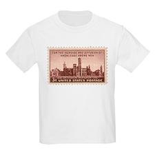Smithsonian 3 Cent Stamp Kids Light T-Shirt