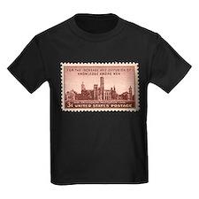 Smithsonian 3 Cent Stamp Kids Dark T-Shirt