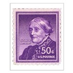 Susan B Anthony 50 Cent Stamp Small Poster