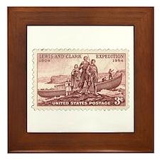 Lewis & Clark 3 Cent Stamp Framed Tile