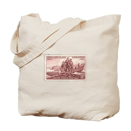Lewis & Clark 3 Cent Stamp Tote Bag