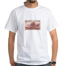 Lewis & Clark 3 Cent Stamp White T-Shirt