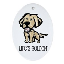Life's Golden Baseball Oval Ornament