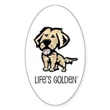 Life's Golden Baseball Oval Decal