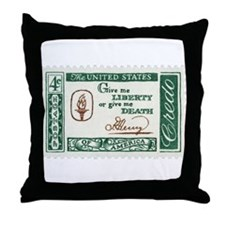 Give Me Liberty 4-cent Stamp Throw Pillow
