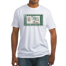 Give Me Liberty 4-cent Stamp Fitted T-Shirt