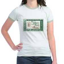 Give Me Liberty 4-cent Stamp Jr. Ringer T-Shirt